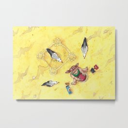 Hunting on the beach Metal Print