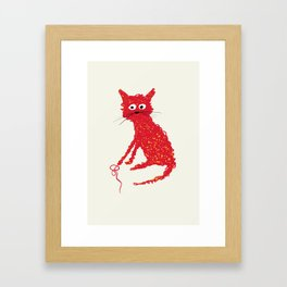 Alfred cat Framed Art Print