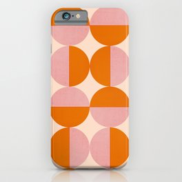 Abstraction_SUN_Circle_Pattern_Minimalism_001 iPhone Case
