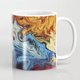 Night's Bright Colors - Color Liquid in Water Coffee Mug