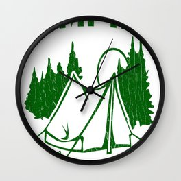 Camping It_s In Tents Wall Clock