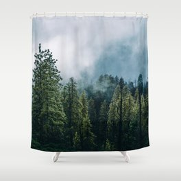 Sequoia Foggy Forest Shower Curtain