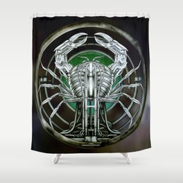 """Astrological Mechanism - Cancer"" Shower Curtain"