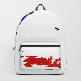 Distressed South Georgia and the South Sandwich Islands Map Backpack
