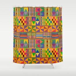 Kente Inspired Shower Curtain