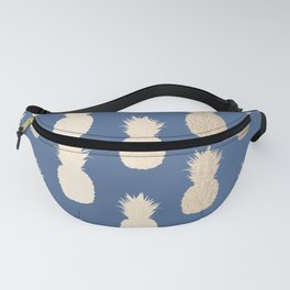 Gold Pineapples on Aegean Blue Fanny Pack