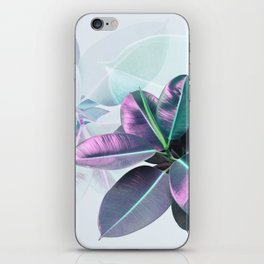 Violet Tropical Plant iPhone Skin