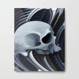 biomech skull 10 Metal Print