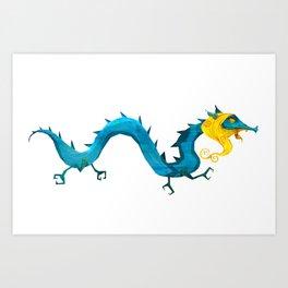 Bearded Dragon Art Print