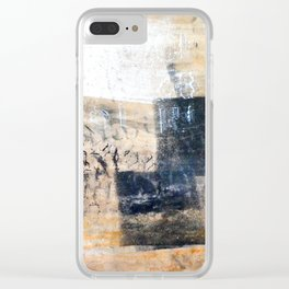 Accumulated Paint Clear iPhone Case