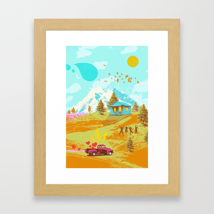 BETTER LAND Framed Art Print