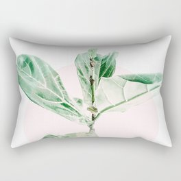 Fiddle leaf - pink pot Rectangular Pillow