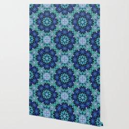 Blue and Green Kaleidoscope Wallpaper