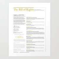 The Bill of Rights (extended version) Art Print