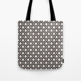 Modern black blush pink wild ethno pattern Tote Bag
