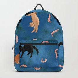 Cats Love Shrimp - Blue Sky Paradise Theme Backpack