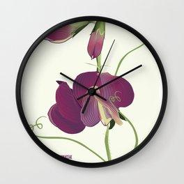 Pea- Pisello Odoroso Wall Clock