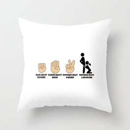 Adult Humor Novelty Graphic Sarcasm Funny T Shirt Nothing beats a blowjob Throw Pillow