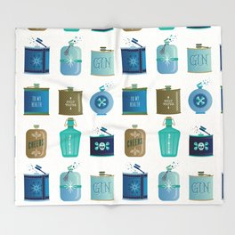 Flask Collection – Blue and Tan Palette Throw Blanket