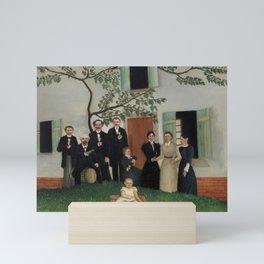 The Family (La Famille) (ca. 1890–1900) by Henri Rousseau. Mini Art Print