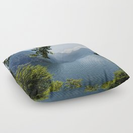 Germany, Malerblick, Mountains - Alps Koenigssee Lake Floor Pillow