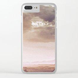 Print 42 – Desert Landscape Clear iPhone Case