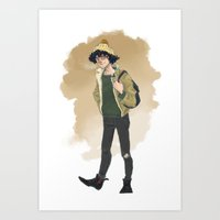 grantaire Art Prints featuring Grantaire  by icarusdrunk