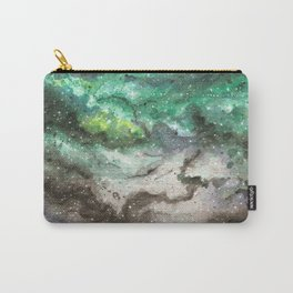 Watercolor Universe - Green Carry-All Pouch