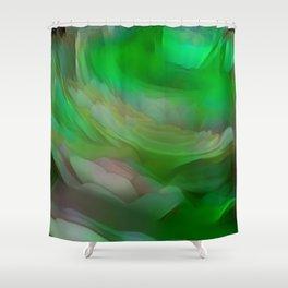 Bee 2D2D Greener Landscape Shower Curtain
