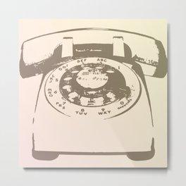 """Bonjour"" Rotary Phone Metal Print"