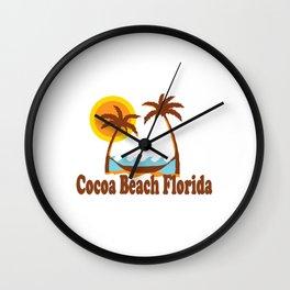 Cocoa Beach - Florida. Wall Clock