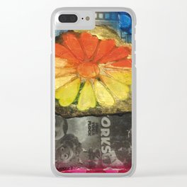Altered Florals Clear iPhone Case