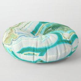 Sea Spray Crystal Agate Slice Floor Pillow