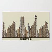 denver Area & Throw Rugs featuring Denver by bri.buckley