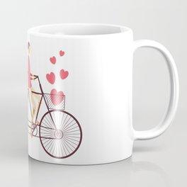 Love Couple riding on the bike Coffee Mug