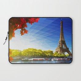 The Pinnacle of Light - Eiffel Tower & River Seine - Paris Laptop Sleeve