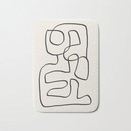 Abstract line art 15 Bath Mat