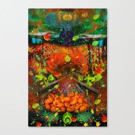 Magical Autumn Rain (psychedelic) Canvas Print