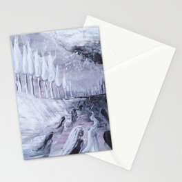 Afterlife in Black & White - Abstract Acrylic Painting Stationery Cards