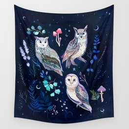 Night Owls Wall Tapestry
