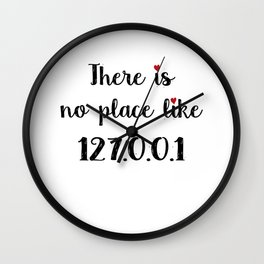 There is no place like - 127.0.0.1 Wall Clock
