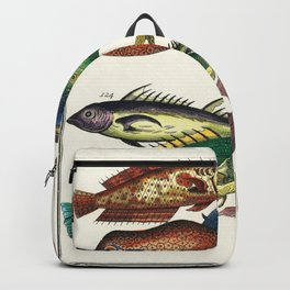 Illustrated Pacific Ocean Exotic Game Fish Identification Chart Backpack