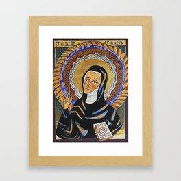 St. Hildegard of Bingen Framed Art Print