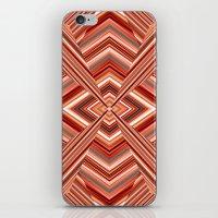 orange pattern iPhone & iPod Skins featuring Pattern orange by Christine baessler