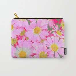 pink daisy in bloom in spring Carry-All Pouch