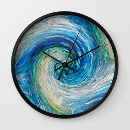 Wave to Van Gogh III re-make seamless texture Wall Clock