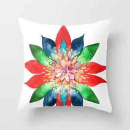 Colorful Cosmos Mandala  Throw Pillow