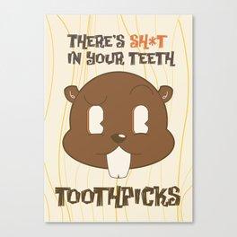 Beaver Toothpicks II Canvas Print