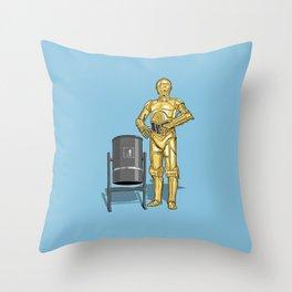 C3PO & Trash Throw Pillow