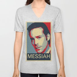 Baltar 'Messiah' design. Inspired by Battlestar Galactica. Unisex V-Neck